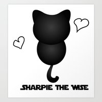 Sharpie the Wise Art Print