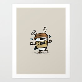 Latte Bot Art Print