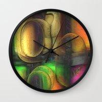 random Wall Clocks featuring Random by John Hansen