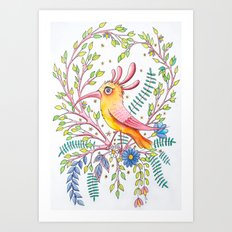 serious bird Art Print