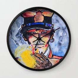 Corto with cigar Wall Clock