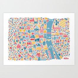 Cologne City Map Poster Art Print