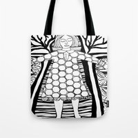 dorothy Tote Bags featuring Dorothy by sharon cassidy