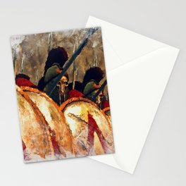 Spartan Army at War Stationery Cards