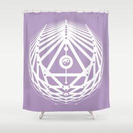 Radiant Abundance (lavender-white) Shower Curtain