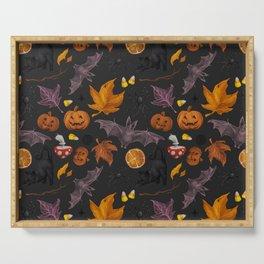 October pattern Serving Tray