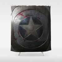 agents of shield Shower Curtains featuring SHIELD by Bilqis
