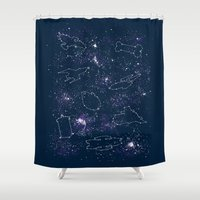 ships Shower Curtains featuring Star Ships by Mandrie