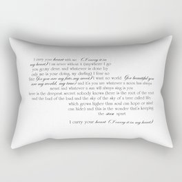I Carry Your Heart With Me - EE Cummings Rectangular Pillow