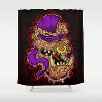 bebop Shower Curtains featuring Bebop is infected! by DesecrateART (Infected)