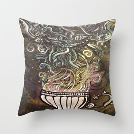 Chesire Coffee Throw Pillow