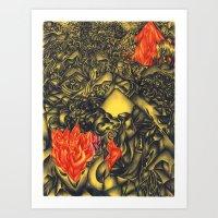 Burning Mountain Art Print