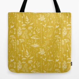 Woodland Walk / Mustard Tote Bag