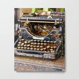 Vintage Rusty Typewriter Metal Print