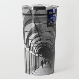 Blue Tabacchi Street Photography in Bologna Travel Mug