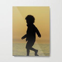 boy silhouette Metal Print