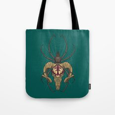 Spider Skull Tote Bag