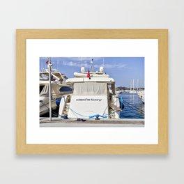 Ferretti 881 Powerboat Framed Art Print