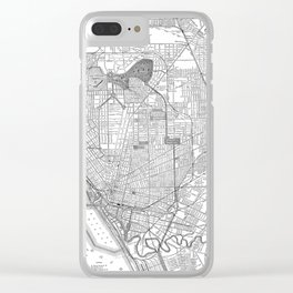 Vintage Map of Buffalo New York (1891) BW Clear iPhone Case