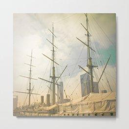 Vintage Old Ship Metal Print