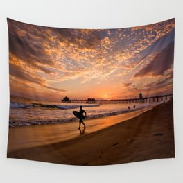Surf City Sunsets   9/10/15   Huntington Beach California  Wall Tapestry