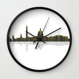 Washington DC Skyline BW 1 Wall Clock