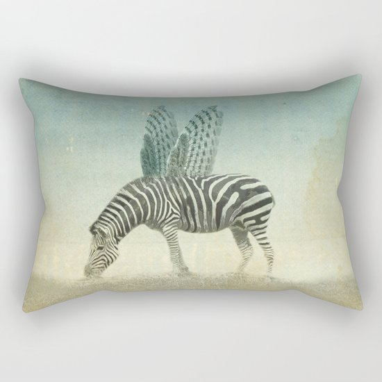 on the wings Rectangular Pillow