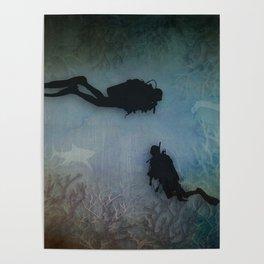 Scuba Divers Poster
