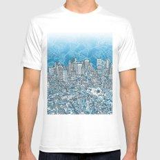 boston city skyline White Mens Fitted Tee MEDIUM