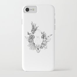 Horse Skull with Flowers iPhone Case