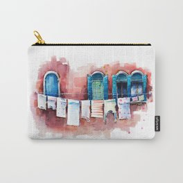 Venice windows, watercolor sketch Carry-All Pouch