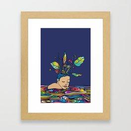 Spring Head Framed Art Print