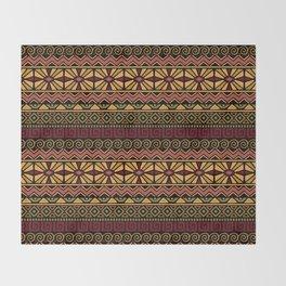 Aztec Gold Throw Blanket