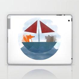 Fox & Wolf in a Tub Laptop & iPad Skin
