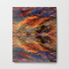 Southwestern Native American Ethnic Tribal Inspired Colorful Abstract Pattern Metal Print