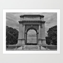 Memorial Arch  Valley Forge, Pa. Art Print