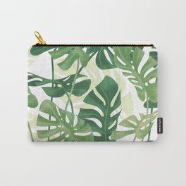 Vintage Monstera leaves Carry-All Pouch