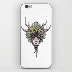 crowned girl iPhone & iPod Skin