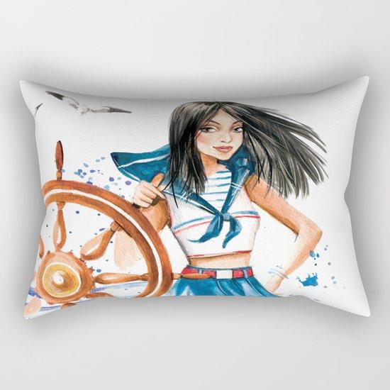 Summer Girl Rectangular Pillow