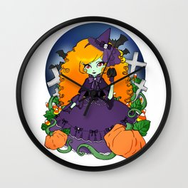 The Violet Witch Wall Clock
