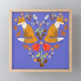 Fox River Valley Folkart in blue Framed Mini Art Print