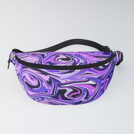 Violet and Lilac Paint Swirls Fanny Pack