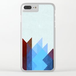 Red Peaks Clear iPhone Case