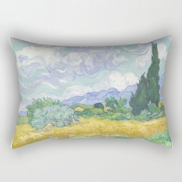 Vincent van Gogh - Wheat Field With Cypresses Rectangular Pillow