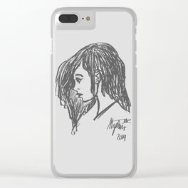 Her Hair Clear iPhone Case