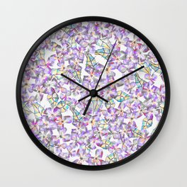 Pinkie Sketchy Flowers Wall Clock