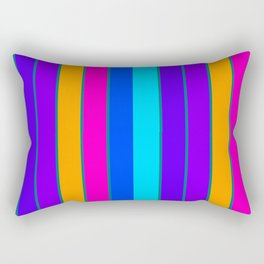 sTRIPES Colorful  Rectangular Pillow