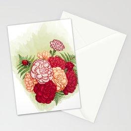 Full bloom | Ladybug carnation Stationery Cards