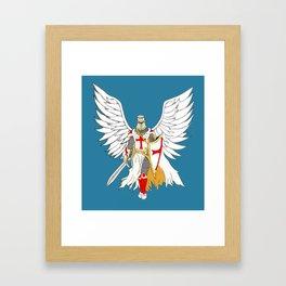 Knights Templar Angel  Framed Art Print