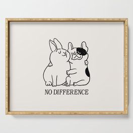 No Difference French Bulldog Serving Tray